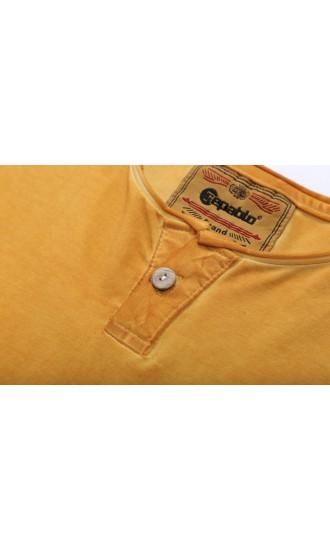 T-shirt męski Boris żółty