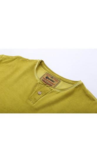 T-shirt męski Boris jasno żółty