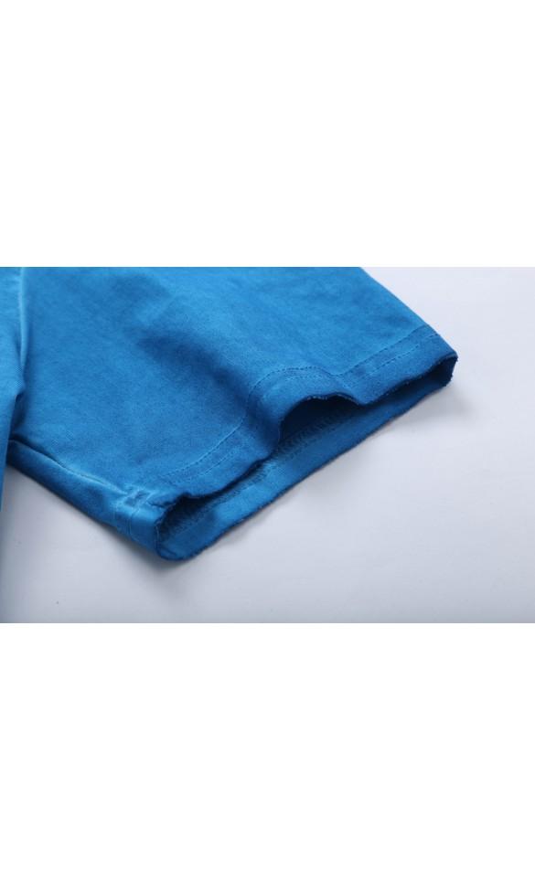 T-shirt męski Albert niebieski