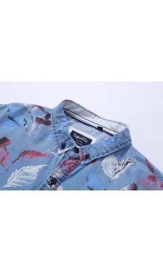 Koszula męska Basil jasny jeans