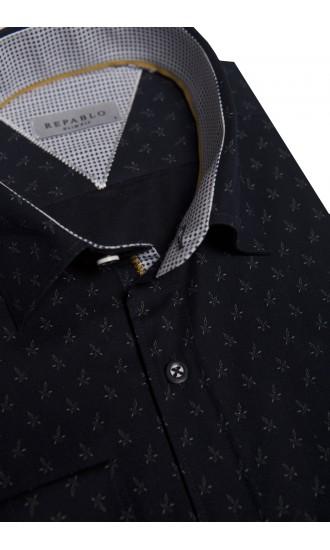 Koszula Leaves czarna