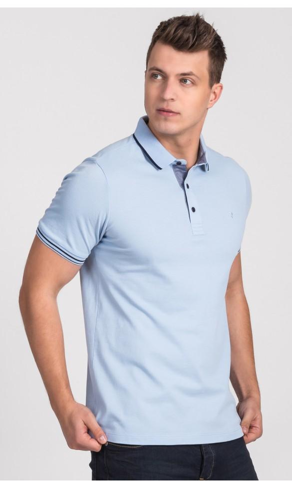 Polo męskie Simon błękitne