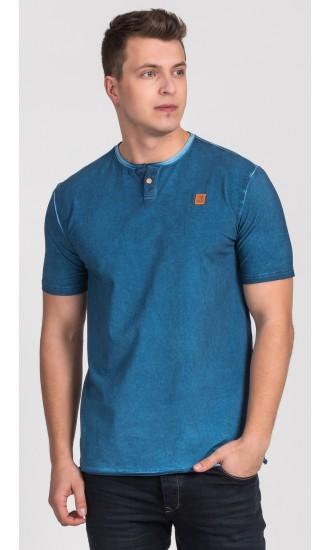 T-shirt męski Boris niebieski