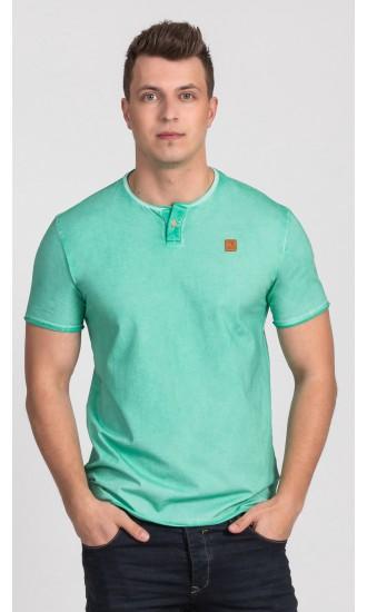 T-shirt męski Boris zielony