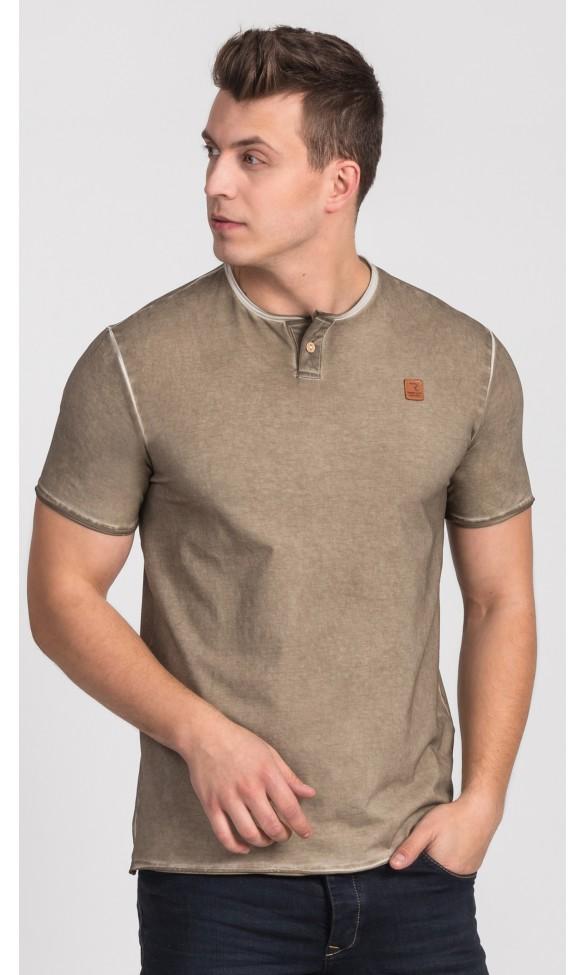 T-shirt męski Boris brązowy