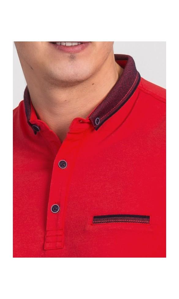 Polo męskie Zachary czerwone