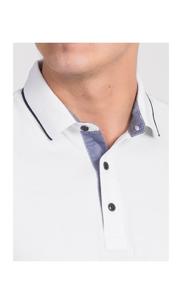 Polo męskie Simon białe