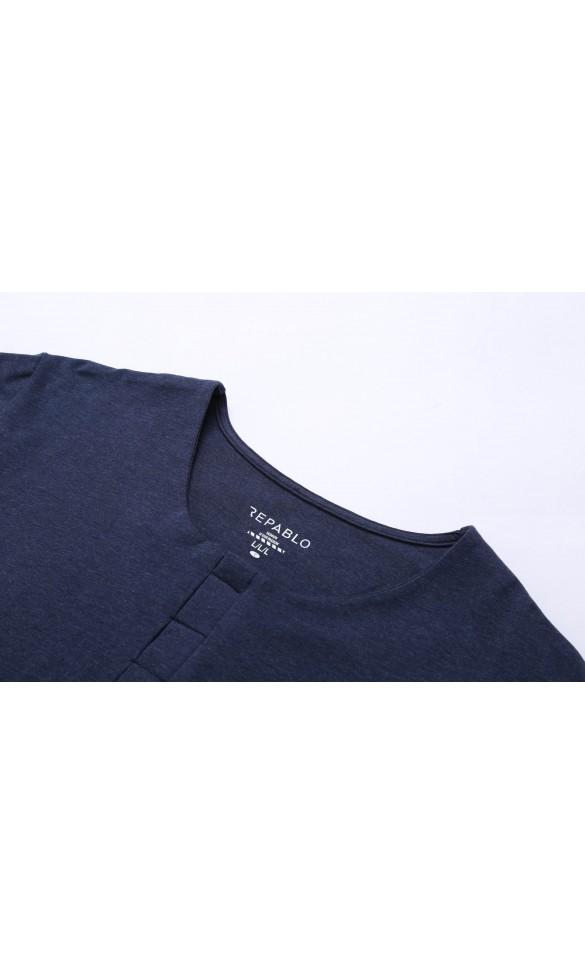 T-shirt męski Cecil granatowy