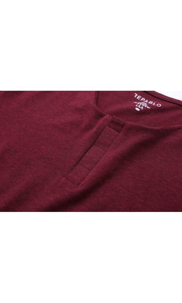 T-shirt męski Cecil bordowy