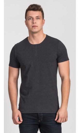 T-shirt męski Cecil popielaty