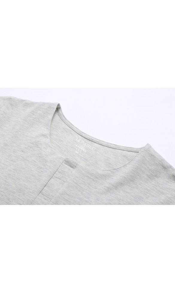 T-shirt męski Cecil kremowy