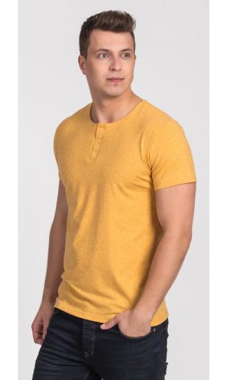 T-shirt męski Cecil żółty