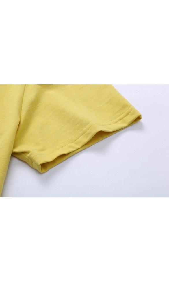 T-shirt męski Cecil jasnożółty
