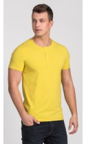 T-shirt męski Cecil jasno żółty