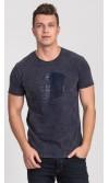 T-shirt męski Dave granatowy