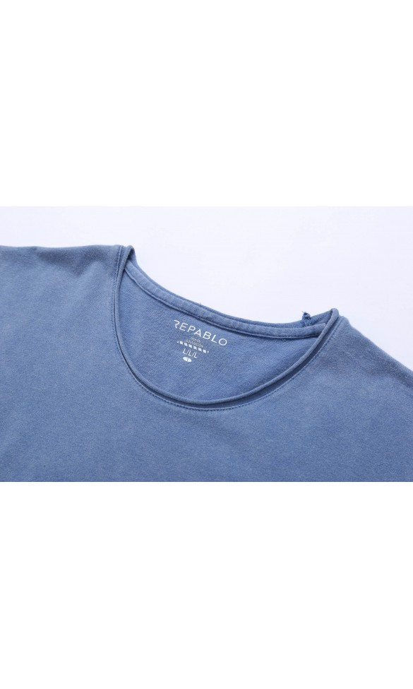 T-shirt męski Dave niebieski