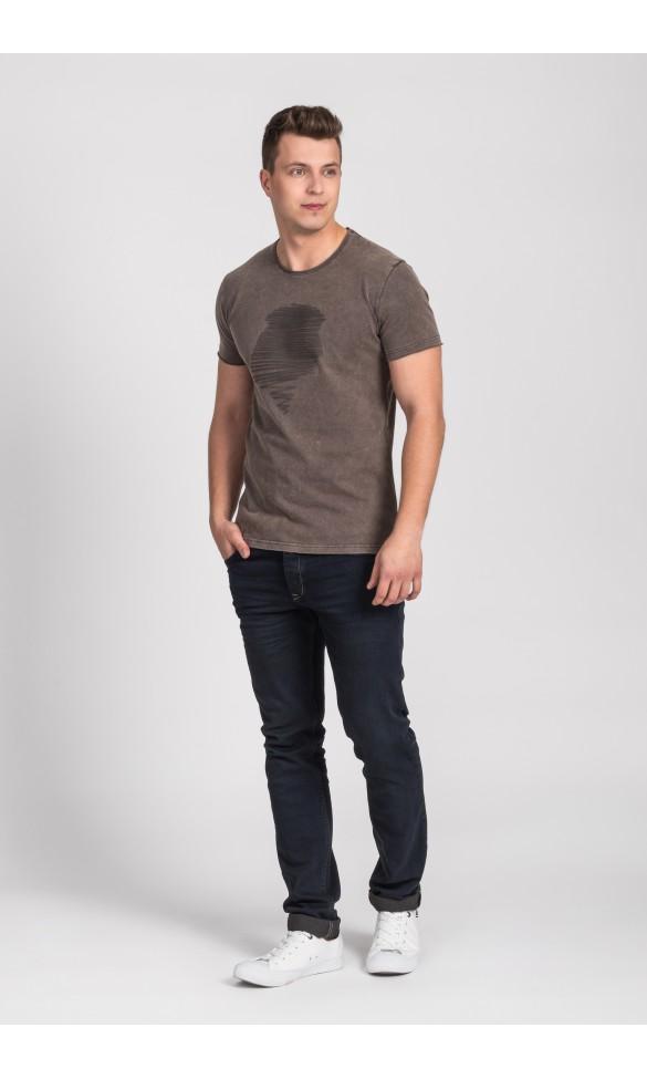 T-shirt męski Dave brązowy