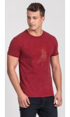 T-shirt męski Dave czerwony
