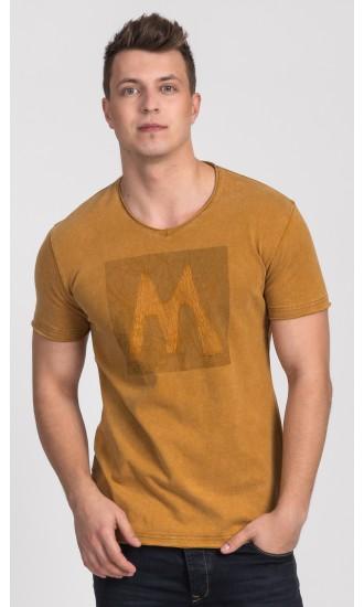 T-shirt męski Edmund żółty