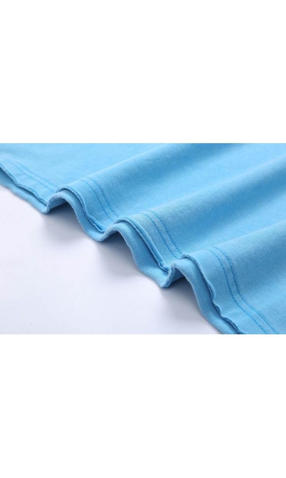 T-shirt męski Edmund niebieski
