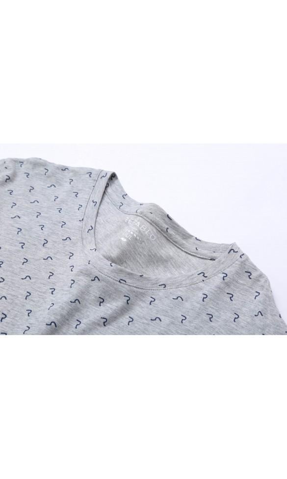 T-shirt męski Larry szary