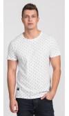 T-shirt męski Larry biały