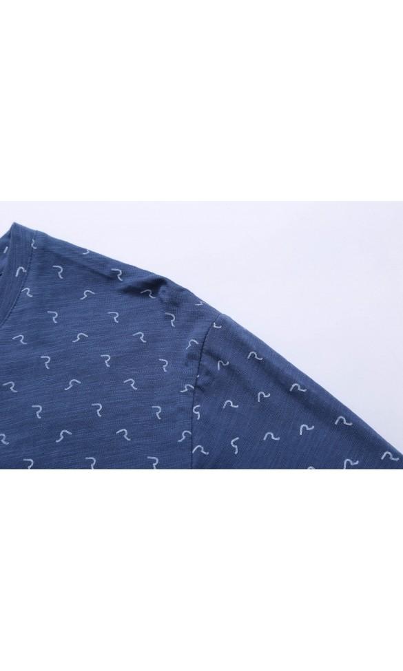 T-shirt męski Larry niebieski
