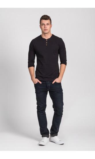 T-shirt męski long sleeve Martin czarny