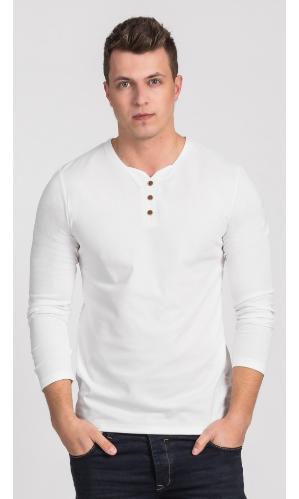 T-shirt męski long sleeve Martin écru