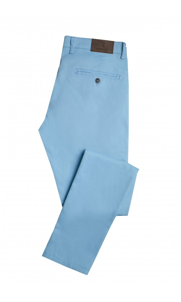 Spodnie męskie Julian błękitne