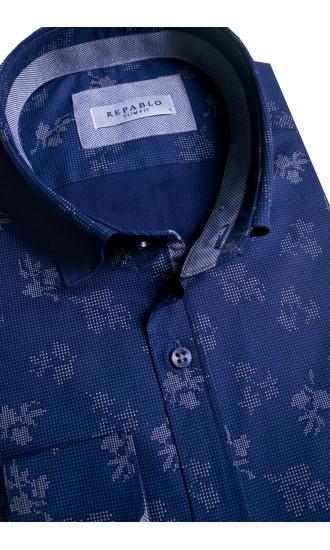 Koszula męska Ernest granatowo-szara