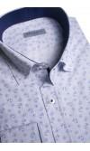 Koszula męska Adrian biało-niebieska