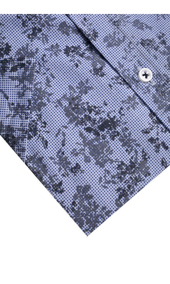 Koszula męska Oscar niebiesko-szara