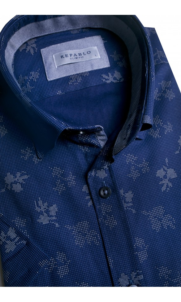 Koszula męska Oscar granatowo-szara