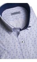 Koszula męska Olaf biało-niebieska