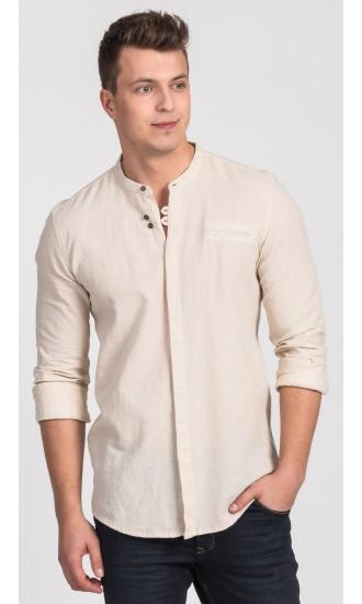 Koszula męska Damian beżowa