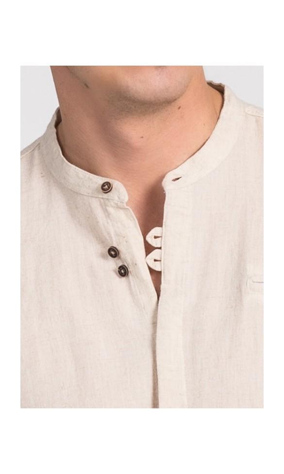 Koszula męska Damian beżowa Repablo