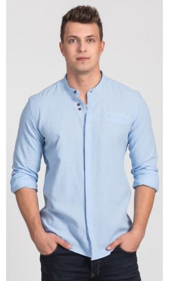 Koszula męska Damian jasno niebieska