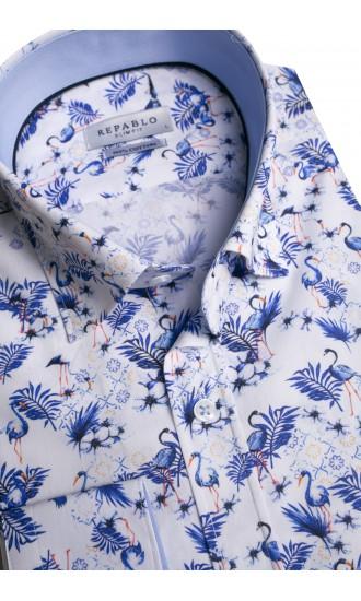 Koszula męska Roland biało-niebieska