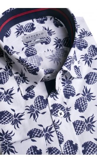 Koszula męska Blase biało-granatowa