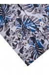 Koszula męska Serge biało-brązowo-niebieska
