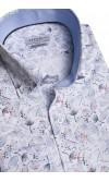 Koszula męska Victor biało-szaro-czerwona