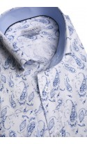 Koszula męska Victor biało-niebieska