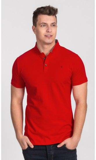 Polo męskie Oliver czerwone