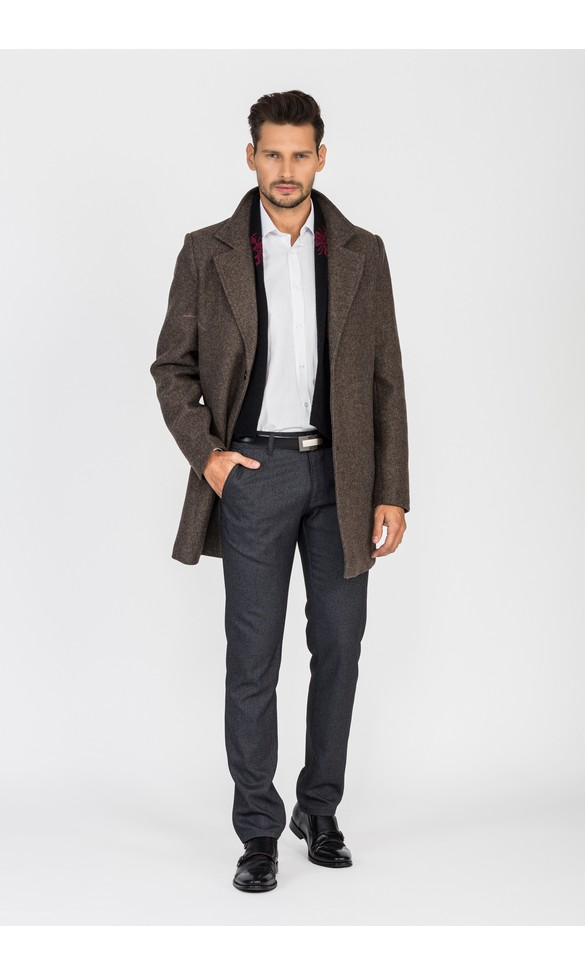 Płaszcz męski Sebastian brązowy