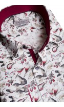 Koszula Birds bordowa