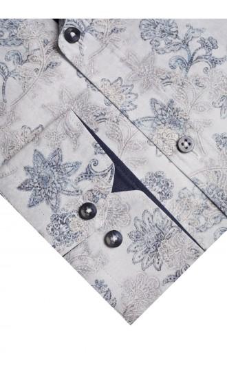Koszula Flowers błękitna
