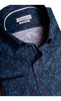 Koszula Lino granatowy
