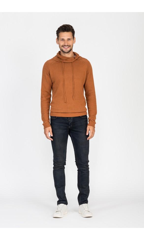 Sweter męski Jerzy brązowy