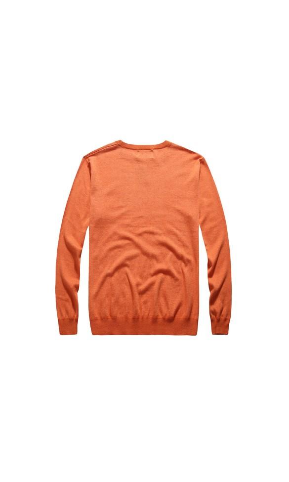 Sweter męski Arnold pomarańczowy